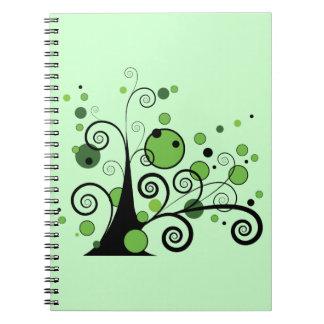 Árbol abstracto verde cuaderno