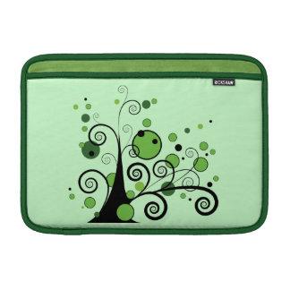 Árbol abstracto verde fundas para macbook air