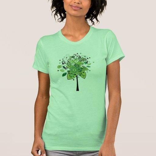 Árbol abstracto verde playeras