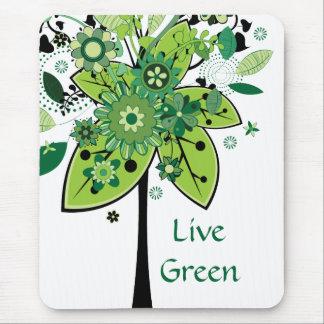 Árbol abstracto verde alfombrillas de ratón