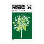 Árbol abstracto verde y blanco envio