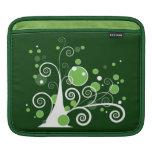 Árbol abstracto verde y blanco mangas de iPad