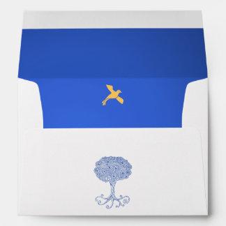 Árbol adornado de princesa Blue del palo Mitzvah d Sobre