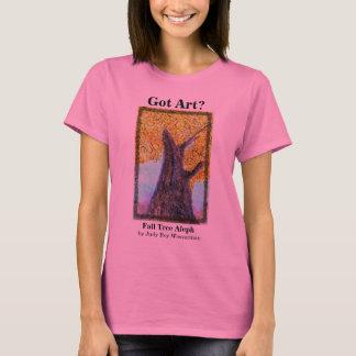 Árbol Alpeh - señoras rosadas de la caída Playera