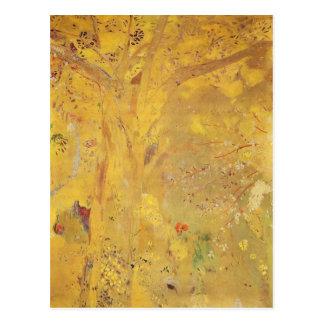 Árbol amarillo de Odilon Redon Tarjeta Postal