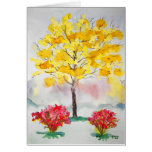 Árbol amarillo felicitacion