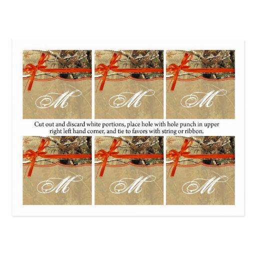 Árbol anaranjado de Camoflouge Camo de 6 del favor Tarjeta Postal