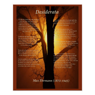 Árbol anaranjado póster