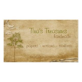 Árbol antiguo tarjetas personales