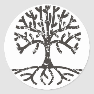 Árbol apenado II Etiqueta Redonda