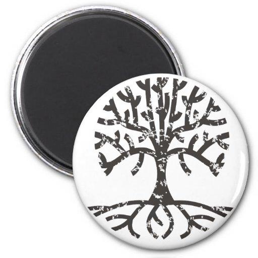 Árbol apenado II Imán Redondo 5 Cm