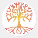 Árbol apenado IV Etiqueta Redonda