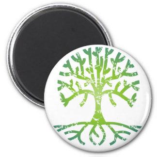 Árbol apenado VI Imán Redondo 5 Cm