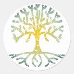 Árbol apenado VII Etiqueta Redonda