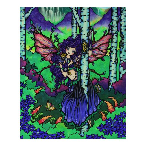 """""""Árbol arte de hadas del bosque de la fantasía del Póster"""