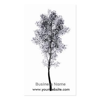 Árbol artístico plantillas de tarjetas de visita