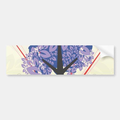 Árbol artsy etiqueta de parachoque