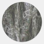 Árbol asombroso pegatina redonda