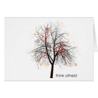 Árbol ateo tarjeta de felicitación