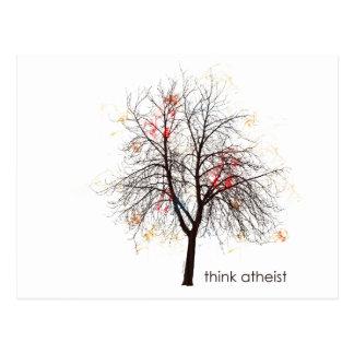 Árbol ateo tarjeta postal