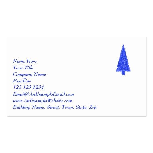 Árbol azul. Árbol de navidad imperecedero del Tarjetas De Visita