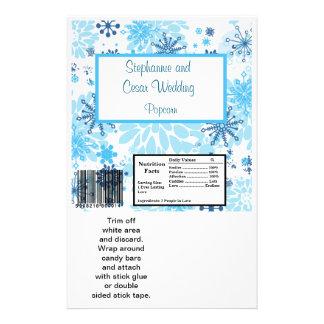 Árbol azul copo de nieve de la envoltura grande de tarjetas publicitarias