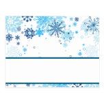 Árbol azul/copos de nieve de la tarjeta programabl postales