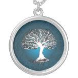 Árbol azul de la joyería pendiente del collar de l