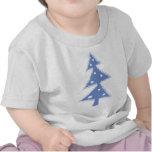 árbol azul de Navidad Camisetas