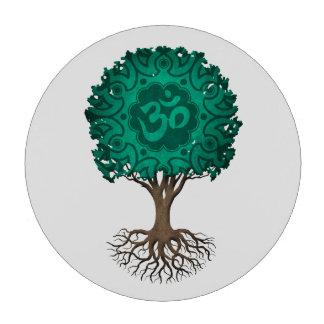 Árbol azul de OM de la yoga del trullo de la vida Juego De Fichas De Póquer