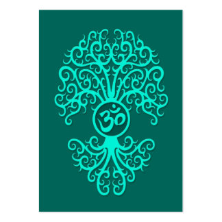 Árbol azul de OM del trullo Tarjetas De Visita