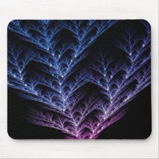 Árbol azul del fractal que brilla intensamente tapetes de ratón
