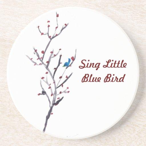 Árbol azul del pájaro posavasos manualidades