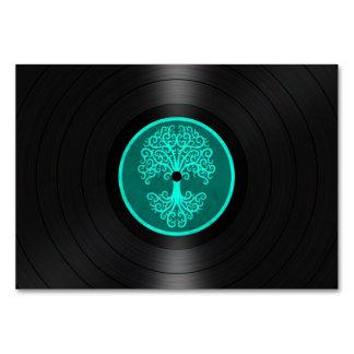 Árbol azul del trullo del gráfico del disco de vin