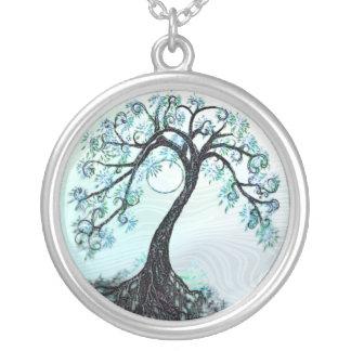 Árbol azul elegante del collar de la vida