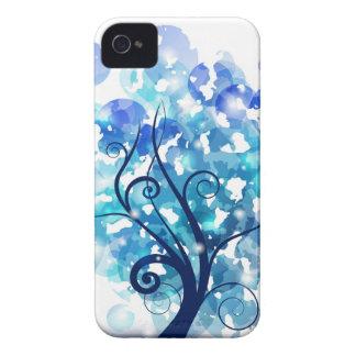 Árbol azul Case-Mate iPhone 4 coberturas