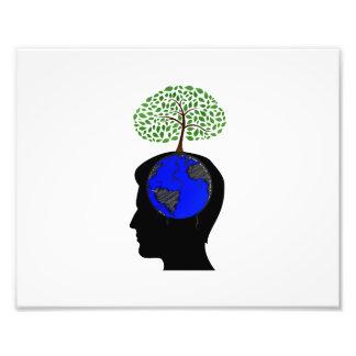 árbol azul growing.png del cerebro del globo del l fotografia