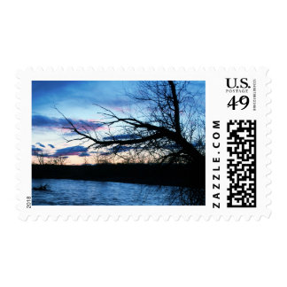árbol azul sellos