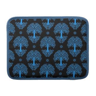 Árbol azul y negro del modelo de la vida funda para macbook air