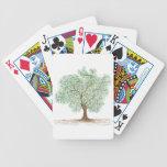 árbol barajas de cartas