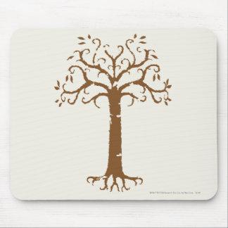 Árbol blanco de Gondor Alfombrillas De Raton
