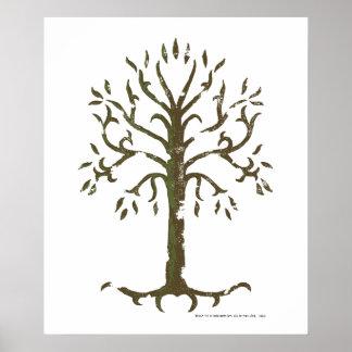 Árbol blanco de Gondor Póster