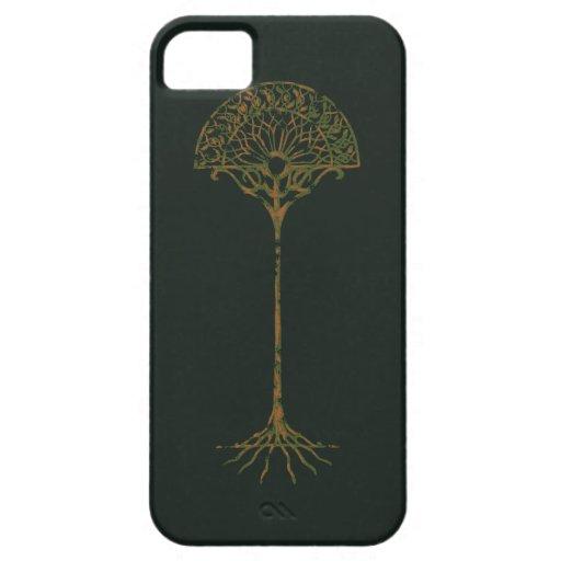 Árbol blanco de Númenor iPhone 5 Case-Mate Protectores