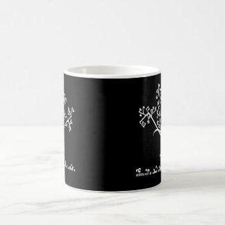 Árbol blanco geométrico abstracto del invierno tazas de café