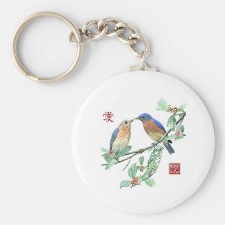 Árbol Bluebird-Santo Llavero Redondo Tipo Pin