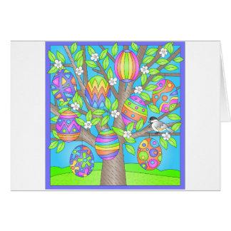 Árbol bonito de Pascua Felicitacion