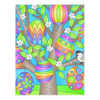 Árbol bonito de Pascua Tarjeta Postal