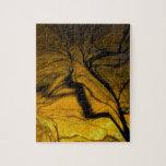 árbol borroso loco, de oro rompecabeza