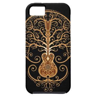 Árbol, Brown y negro de la guitarra Funda Para iPhone SE/5/5s