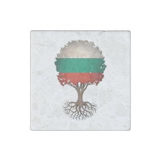 Árbol búlgaro de la bandera del personalizable de imán de piedra